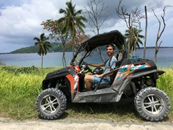 Coastal ATV adventure ride