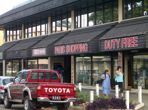 Duty free store in Port Vila town