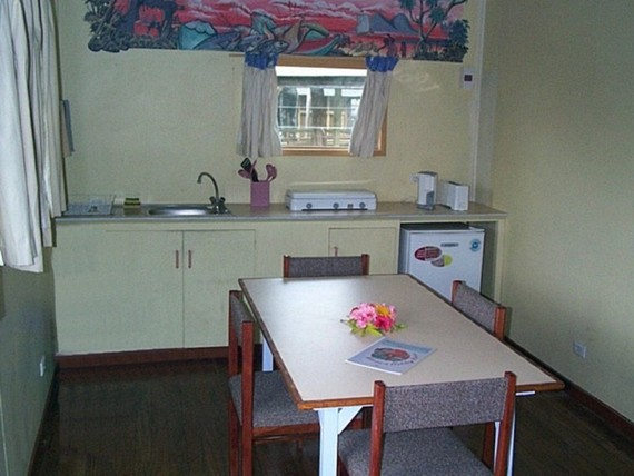 Interior of a holiday bungalow in Port Vila