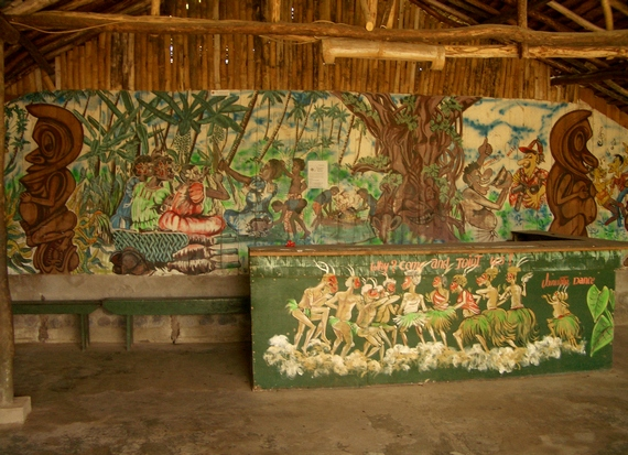 Wall painting depicting Melanesian Feast Night